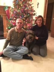 Cindy, Mark and our dog, Sadie