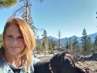 Hiking in Rocky Mt. Natl Park with Sydney