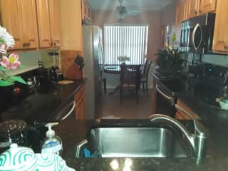 Eat in kitchen with all new appliances.