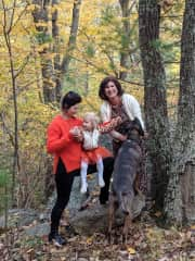 With Catahoula Leopard dog Ash and my family