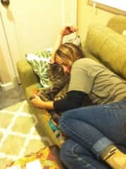 Me and Gus... a cat I take care of