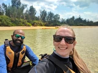 Enjoying our time kayaking!