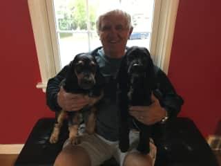 David with Teddy and Harvey