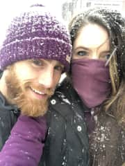 Kody and Ashley caught in a snow storm!