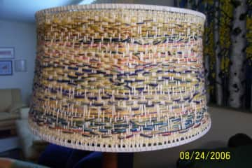 I weave, this is one of my lamp shades.