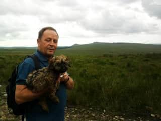 Alfie & Ian on Dartmoor