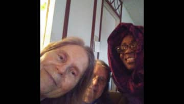 Elisabeth, her sister Joyce, and me. Elisabeth was determined to celebrate my birthday (12/31). This picture was part 2 after I spent the night. Elisabeth writes me annual Christmas letters; so she was thrilled to write my character reference.