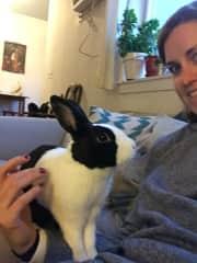 Me with Hugs my bunny