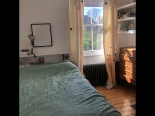 This is the guest bedroom - where sitters could stay, with a comfy double bed and lots of light.