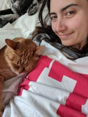 Cuddling with Charlie <3