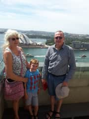 Pam and Gary with eldest grandson, enjoying family time