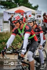 Ann and I race and ride on tandem bicycles. We prefer this mode of transportation! This photo is from a 500 mile race called Race Across Italy.