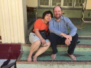 Derek and Sue on their recent travels in Myanmar
