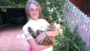 Anne cuddling Peggy