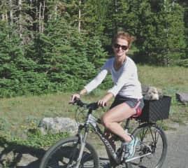 Biking Glacier National Park with Mr. Sam