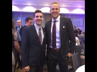 James and MLB pitcher, Jameson Taillon, at a charity event