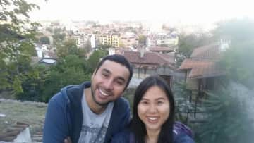 Cristian and Jo in Plovdiv, Bulgaria
