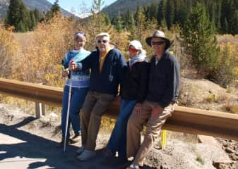 Hiking with good friends in the Colorado mountains.