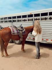 Horseback riding in Malibu.