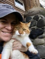 Sweet Mama, the barn cat in Oregon.