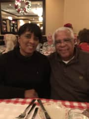 Phyllis and Ray at the restaurant