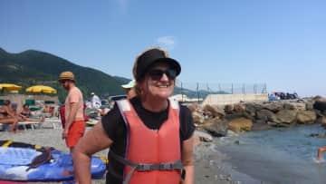 Kerrie kayaking Cinque Terre Italy
