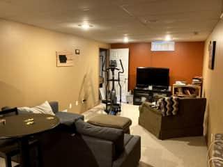 Basement with TV/surround sound