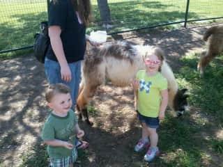 David, Nora, and Sara Feeding