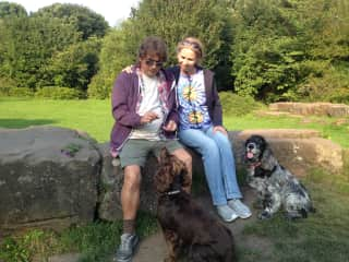 Spending time in the UK with family and their pets