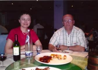 Dinner in a Chinese restaurant in Bristol in 2010