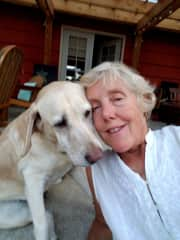 Me with sweet Olie in Portland.