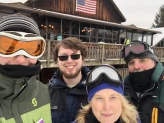 Family ski trip! Husband and 2 kiddos.