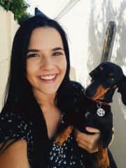 Suzie the dachshund.