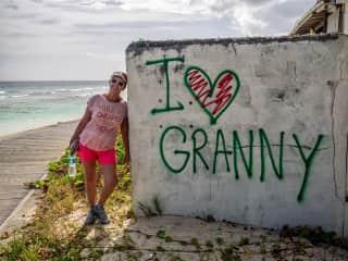 Walking in Barbados