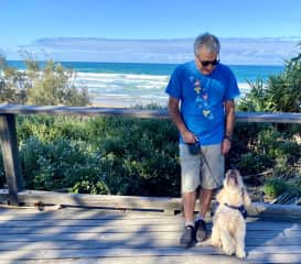 Raffie and Bijan at Mooloolaba  Beach, Queensland, Australia