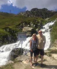 Julie and Trevor in The Alps