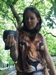 Me feeding a pigeon :)