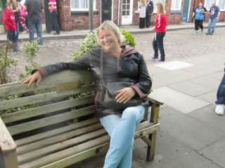 Me on the Coronation Street Set!