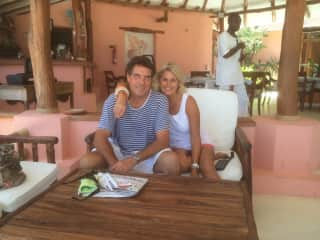 Tim and Carol at one of our favourite restaurants in Malindi!