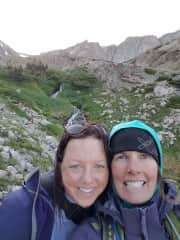 Girl's backpacking trip at Rocky Mountain National Park, Colorado.