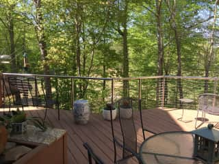 Our deck leads down to a gazebo overlooking golf course