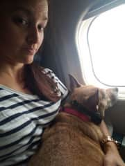 Allie an I on our way to LA. Her first flight