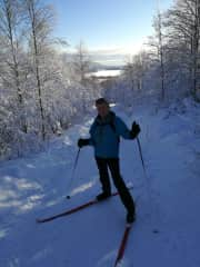 Cross country skiing in Oslo, last year when there was snow..