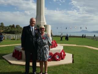 Margaret & Brian at Souda War Cemetery