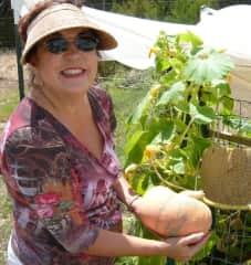 Debi and her vegetable garden