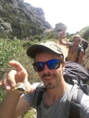 Selfie with wild turtle