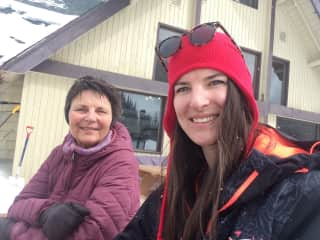 My daughter and me at Mt Norquay.