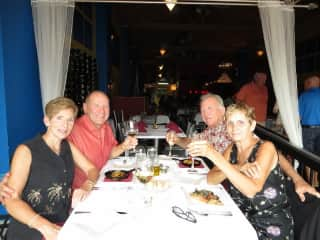 We are foodies and  love dining out with our friends.