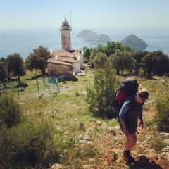 Ina hiking in Turkey.