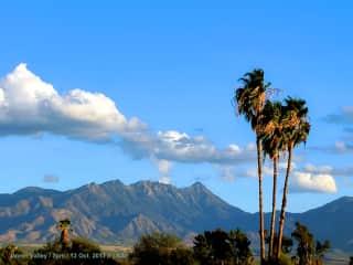 Green Valley, view to the Santa Rita Mountains